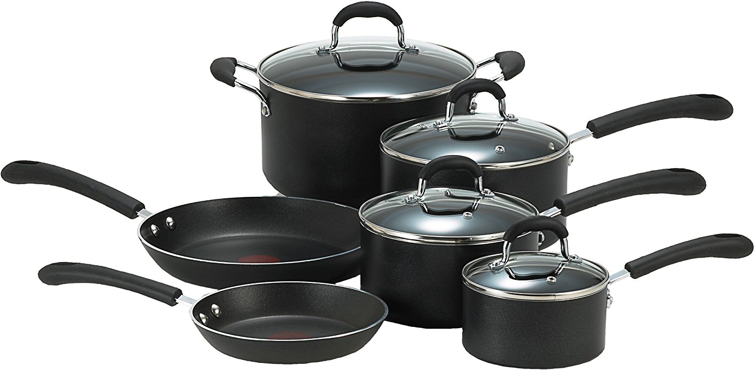 T Fal Professional 10 Pc Non Stick Thermo Spot Heat Cookware Set