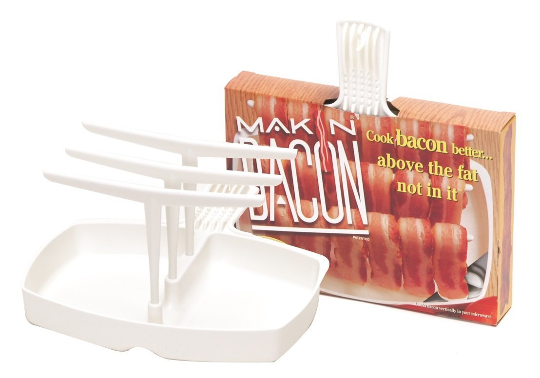 Microwave Bacon Cooker Makin Bacon Rack Tray Maker Plate Hanging
