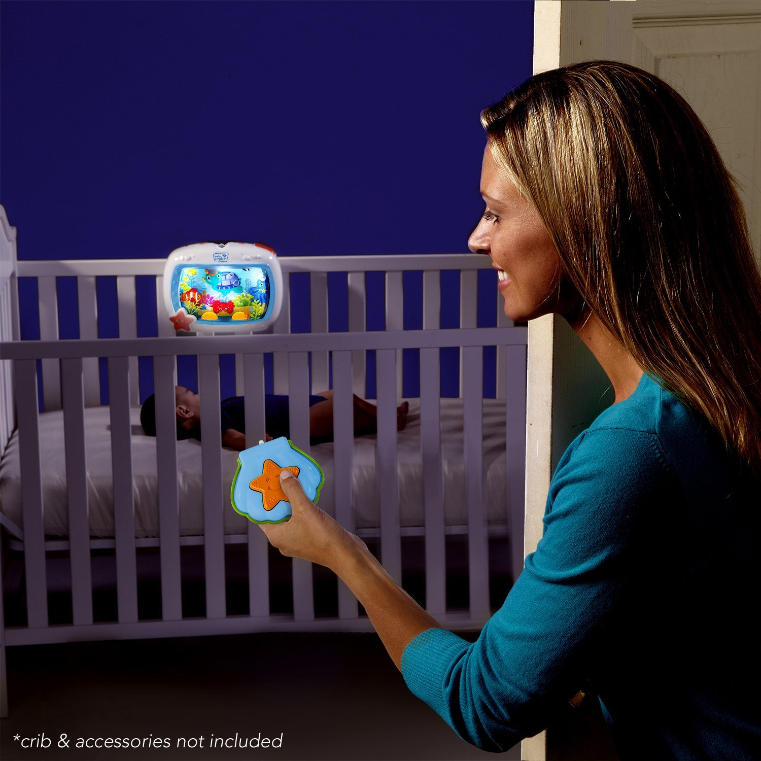 Baby Einstein Sea Dreams Night Soother Crib Bed Light Sound Infant