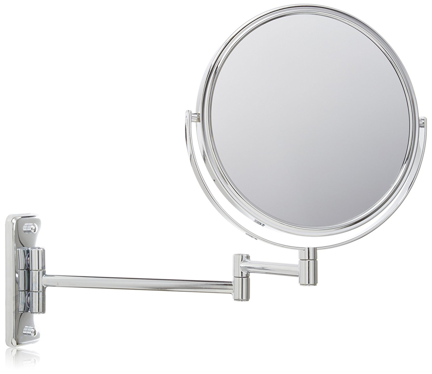 Jerdon JP7506CF 8-Inch Two-Sided Swivel Wall Mount Mirror with 5x ...