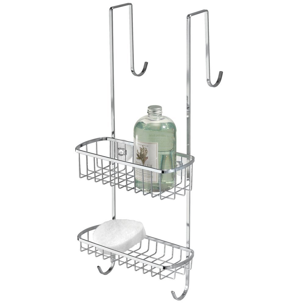 InterDesign Over-the-Shower-Door Shower Caddy, Polished Stainless ...