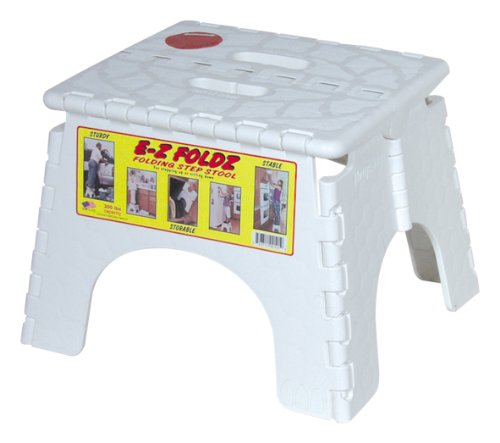 Fantastic Details About Bandr Plastics 101 6 White Ez Foldz Step Stool New Free Shipping Squirreltailoven Fun Painted Chair Ideas Images Squirreltailovenorg