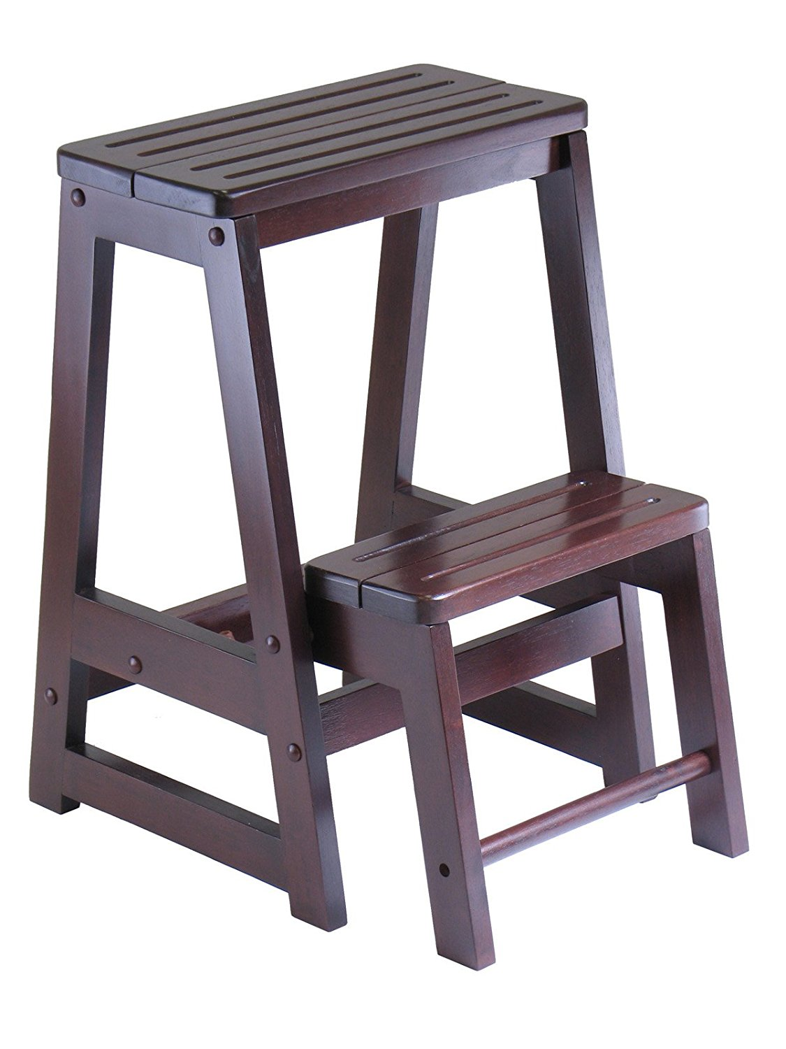 Magnificent Details About Winsome Wood Step Stool Antique Walnut New Free Shipping Short Links Chair Design For Home Short Linksinfo
