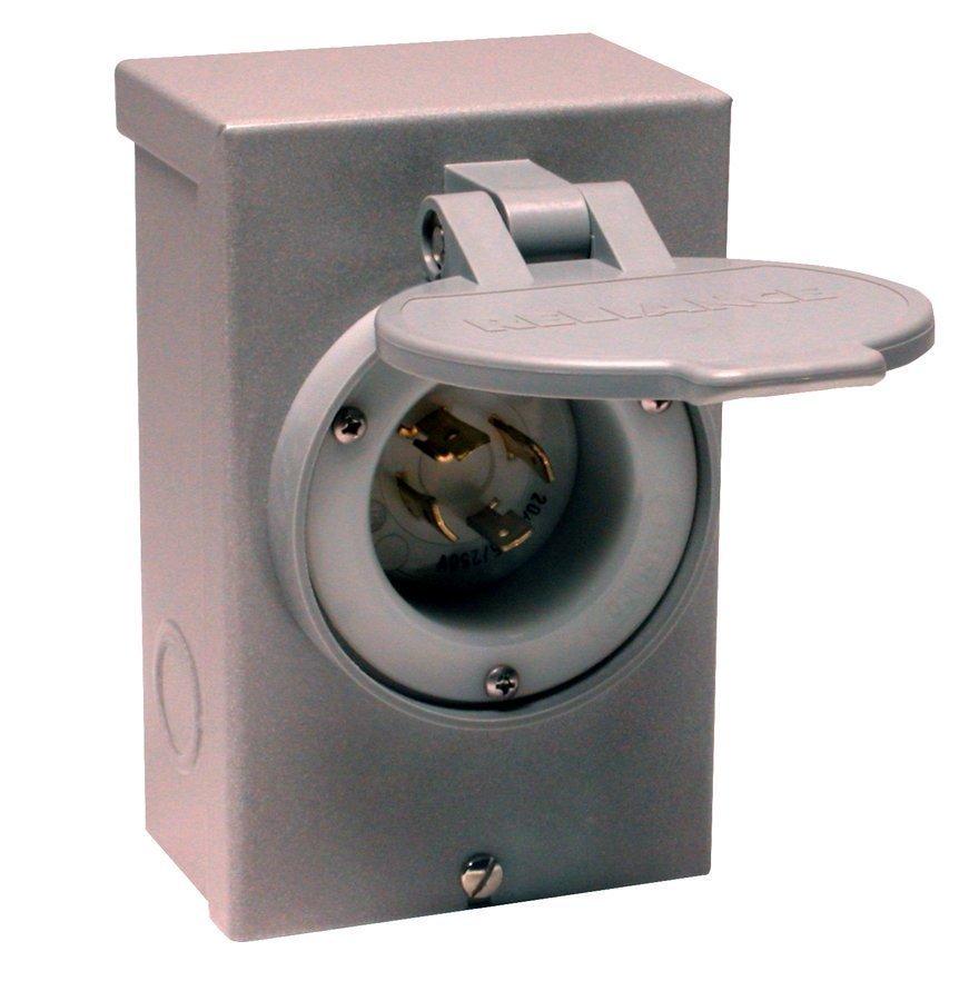 reliance controls pb30 l14 30 30 amp generator power cord inlet box