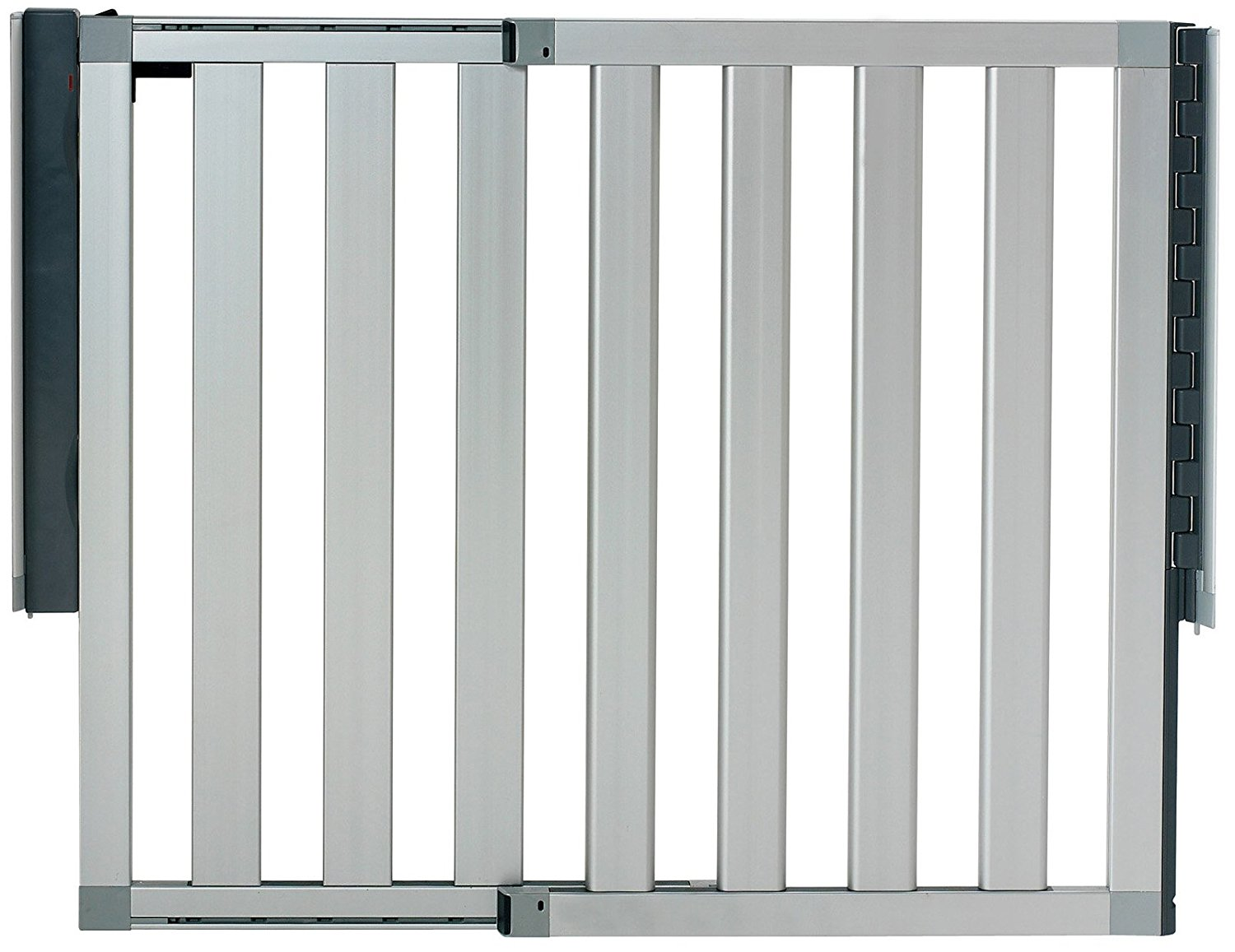 Munchkin Loft Aluminum Infant Safety Gate Silver New Free