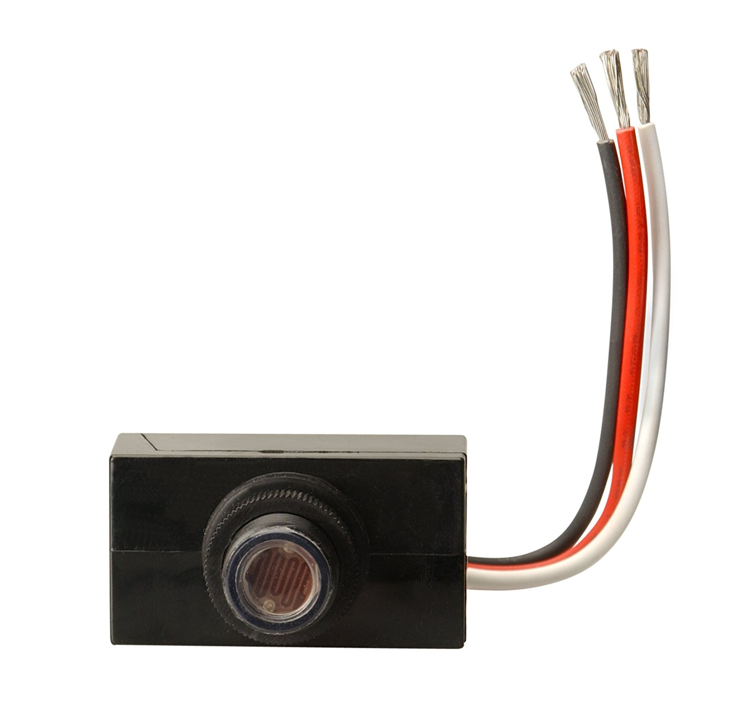 Woods 59408 outdoor hardwire post eye light control with photocell main image workwithnaturefo