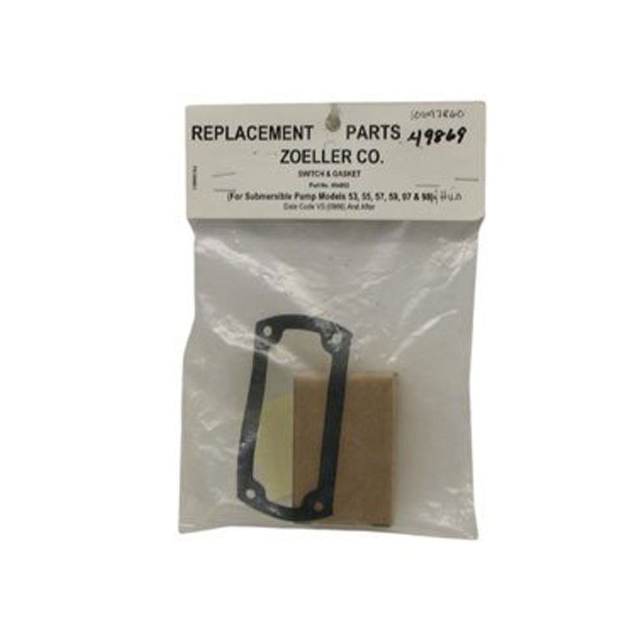 ZOELLER REPAIR SWITCH 004892