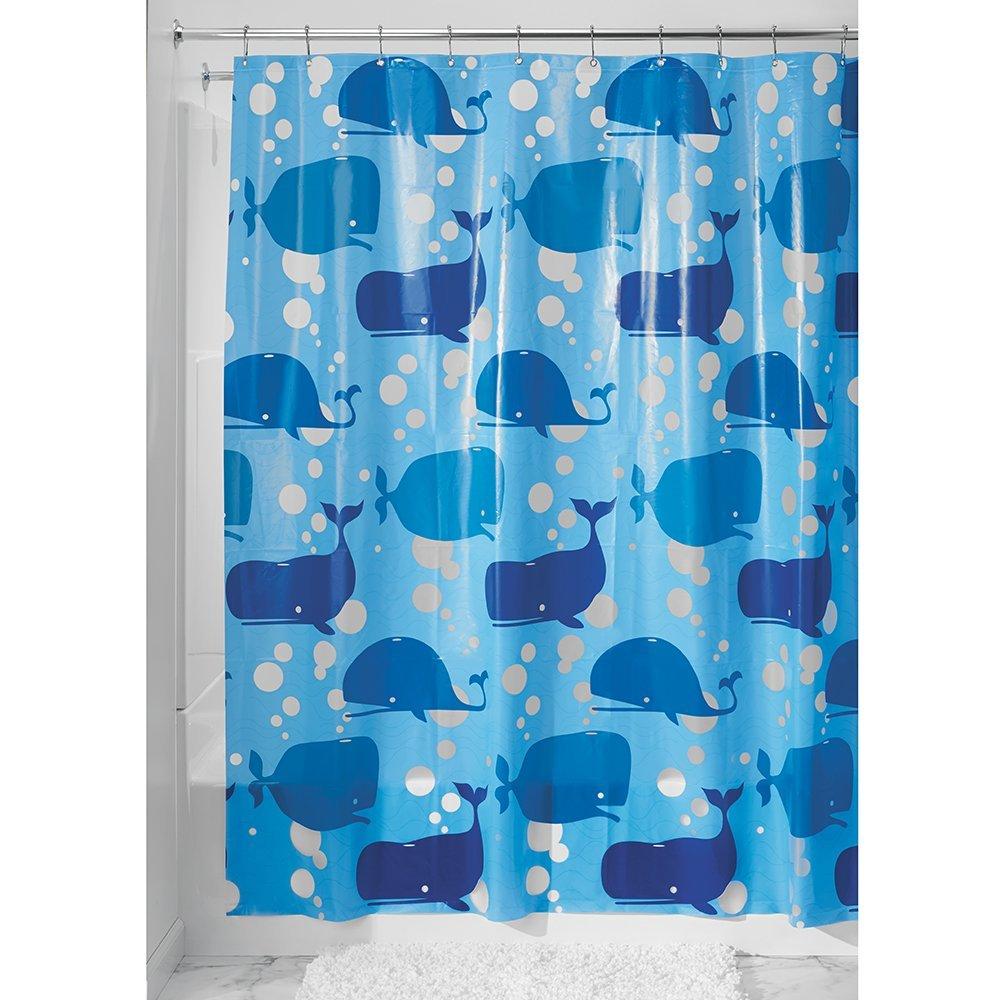 InterDesign Novelty EVA Shower Curtain 72 Inch By Blue