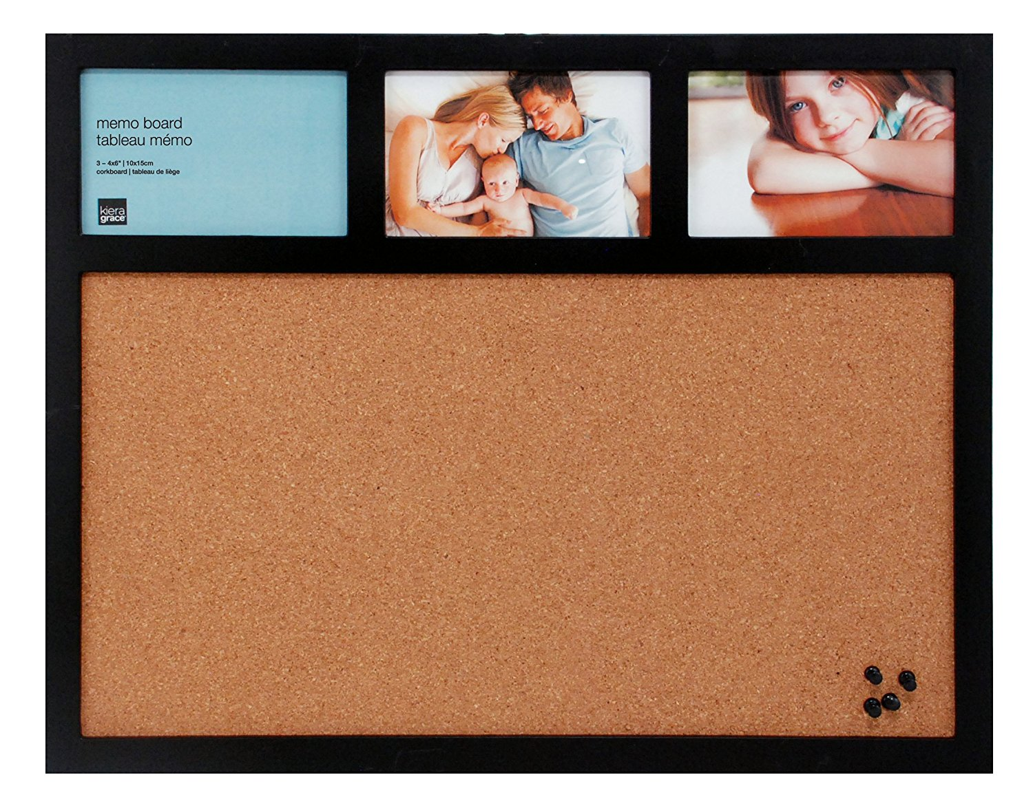 Kiera Grace 16 by 20-Inch Cork Board and Collage Frame Combo, Holds ...