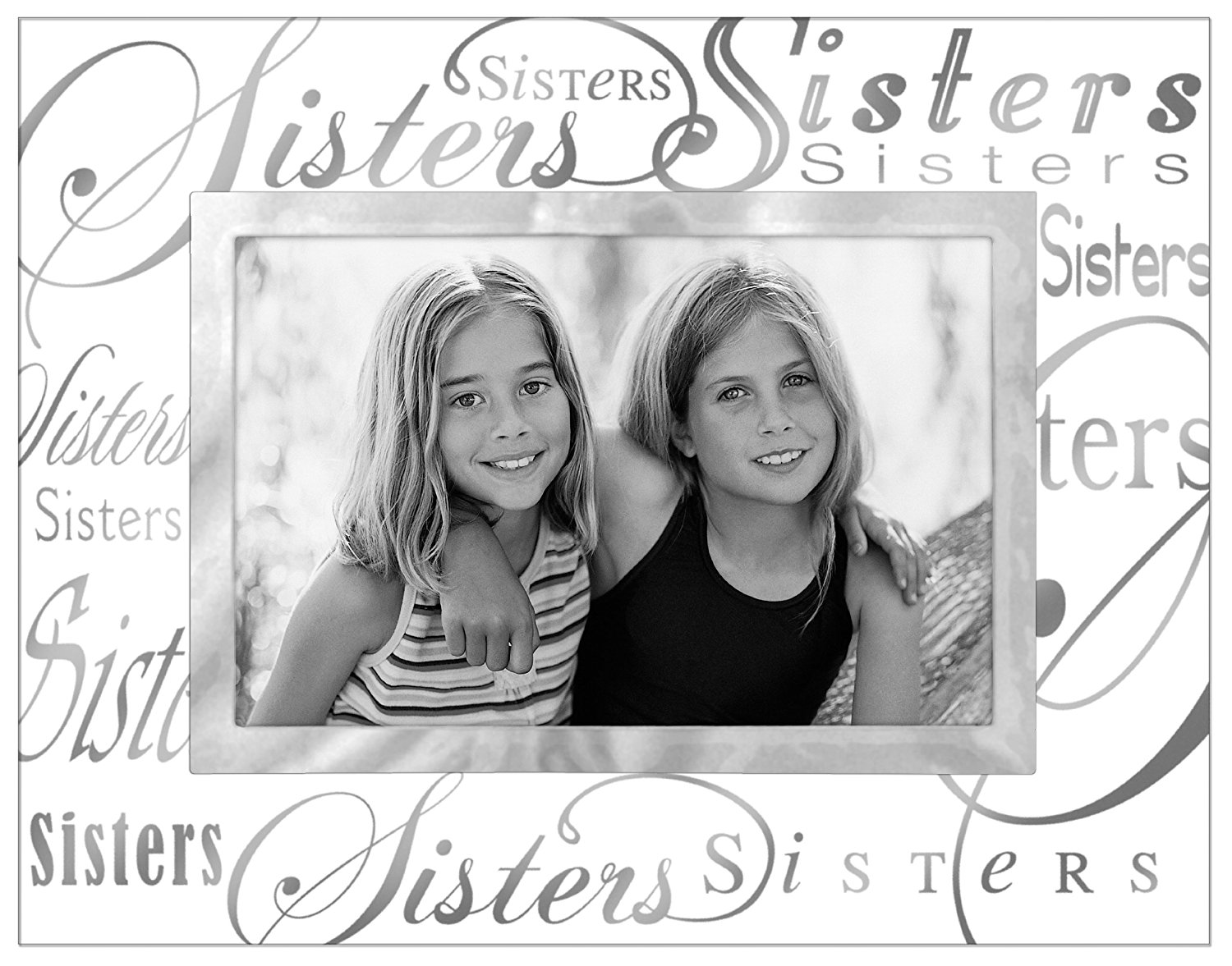 Malden Clear Expressions Glass Picture Frame, Sisters, 4 by 6-Inch ...