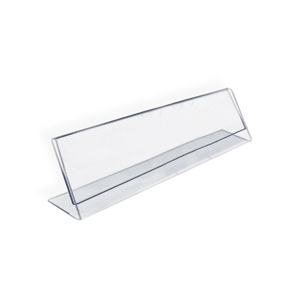 azar 112703 horizontal name plate acrylic sign holder 10 count