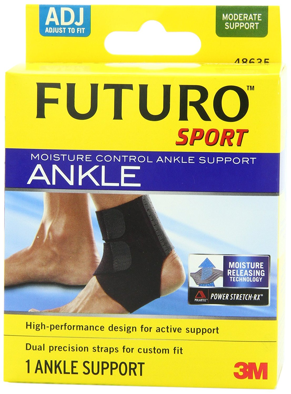 c1f4e99cda Details about Futuro Sport Moisture Control Ankle Support, Adjustable ,  New, Free Shipping