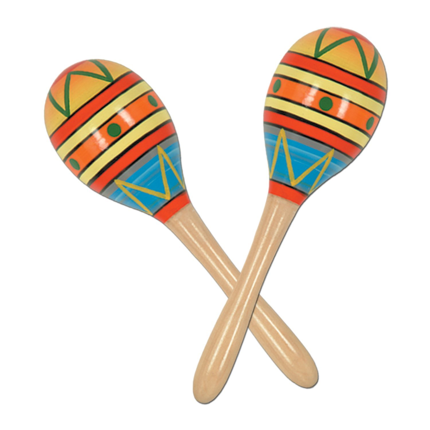 fiesta fun party maracas party accessory 1 count 2 pkg new