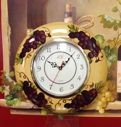 Grape Decor: Tuscany Kitchen Decor Grape Wall Clock, New, Free Shipping