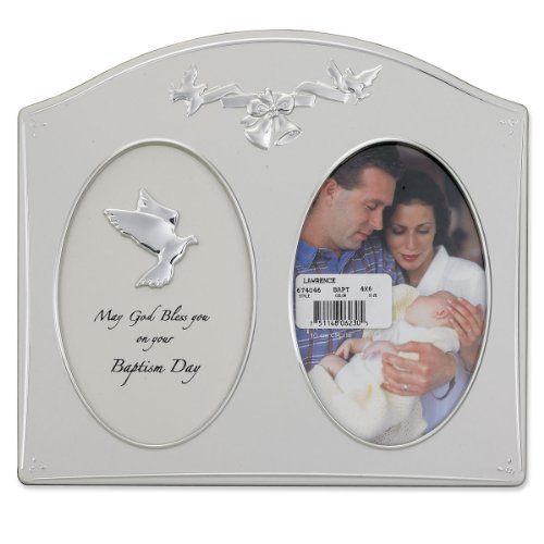 Lawrence Frames Silver Metal 4 by 6 Baptism Day Picture Frame, New ...