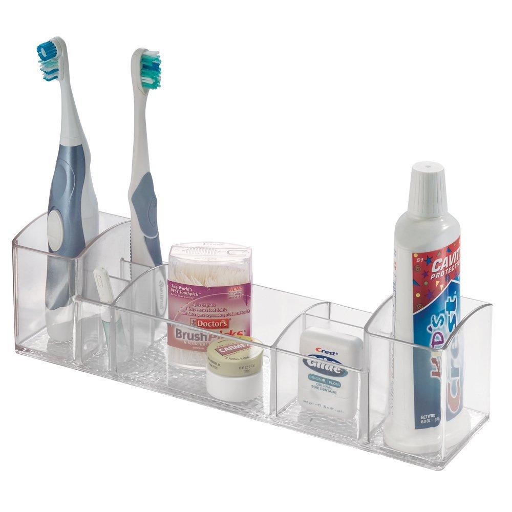 Interdesign Bathroom Tray Organizer Vanity Toothbrush Holder