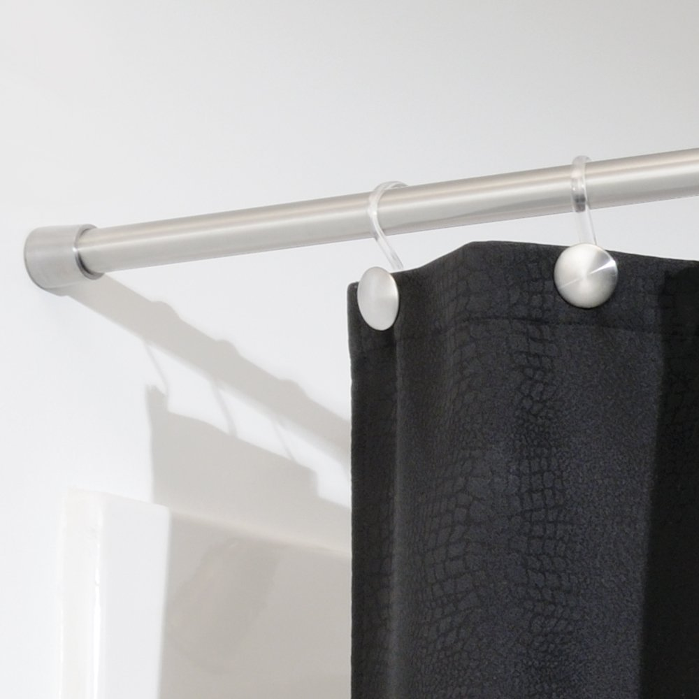 NEW InterDesign Forma Shower Curtain Tension Rod Brushed Stainless