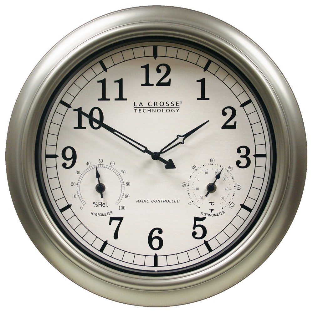 La Crosse Technology Wt 3181pl Int 18 Inch Atomic Outdoor Clock With