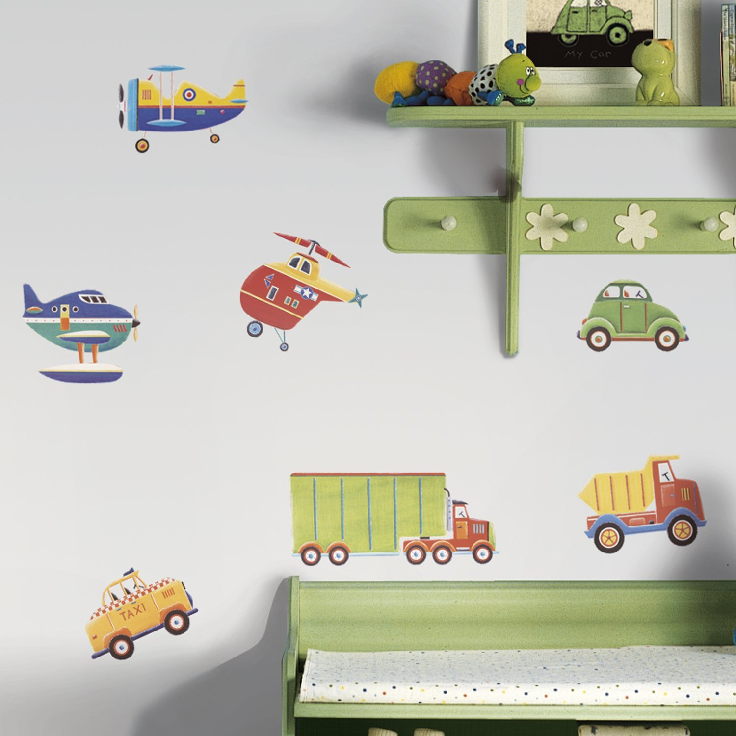 Roommates rmk1132scs transportation peel and stick wall decals main image amipublicfo Gallery