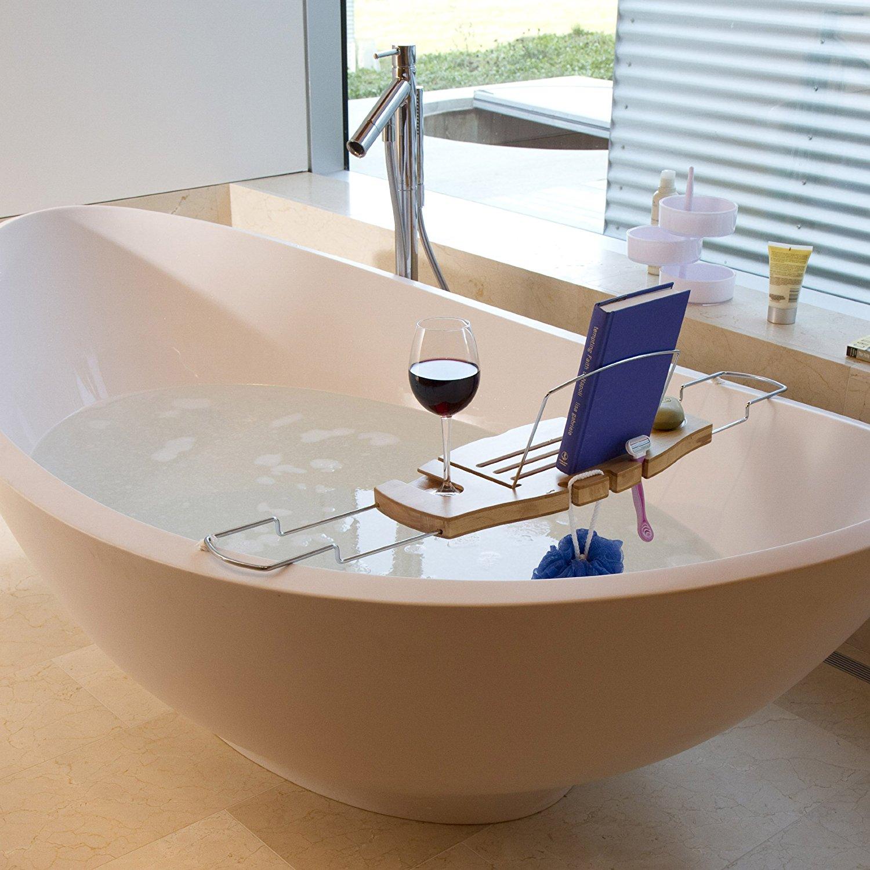 Umbra Aquala Bamboo and Chrome Bathtub Caddy , New, Free Shipping ...