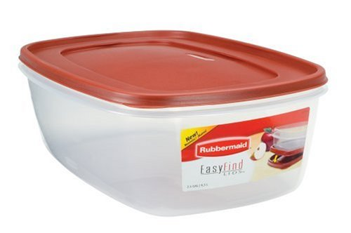 Main Image  sc 1 st  eBay & Rubbermaid Easy Find Lid Rectangle 40-Cup Food Storage Container ...