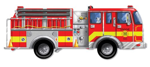 melissa and doug giant fire truck floor puzzle new free shipping