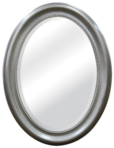 MCS Brushed Nickel Oval Mirror Frame, 22.5 by 29.5-Inch , New, Free ...