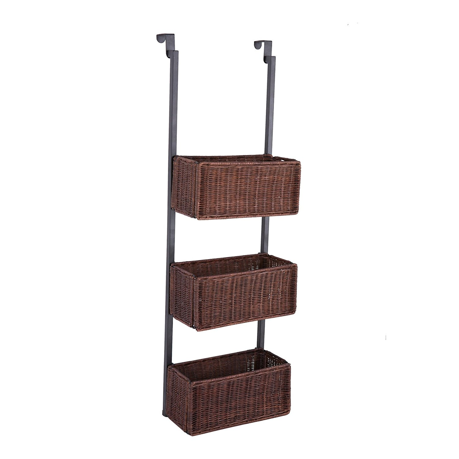 main image  sc 1 st  eBay & Southern Enterprises Over-The Door 3-Tier Basket Storage  New Free ...