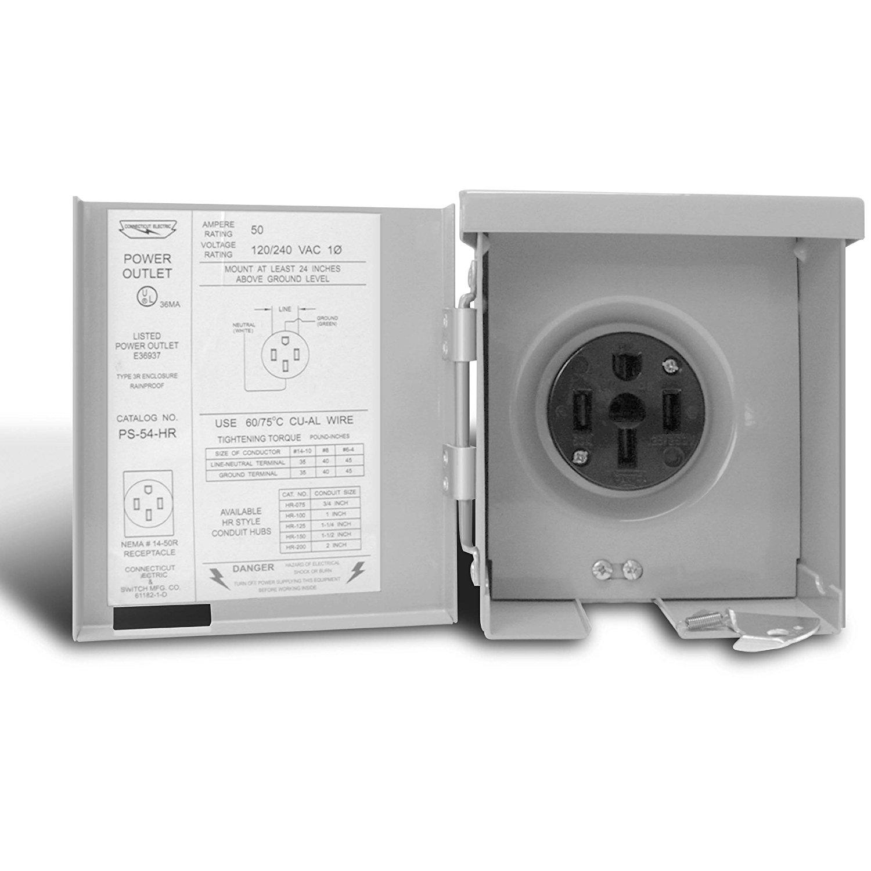 Connecticut Electric CESMPS54HR 50-Amps/120240-Volt RV Power Outlet ...