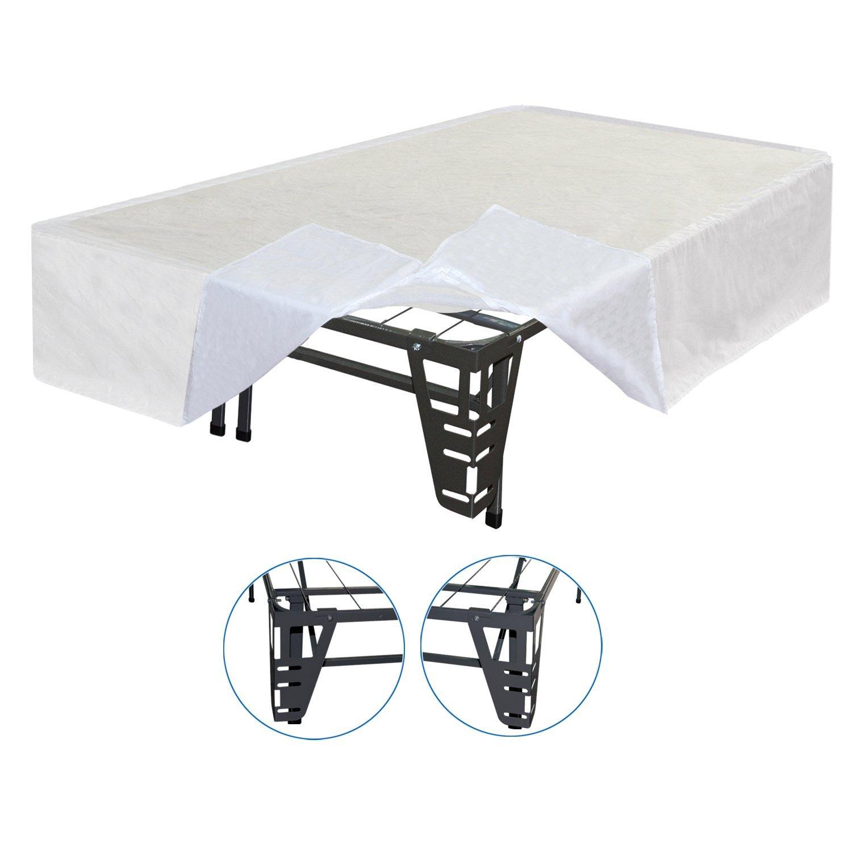 Sleep Master 4Piece Bracket Set and Bed Skirt for Platform Bed