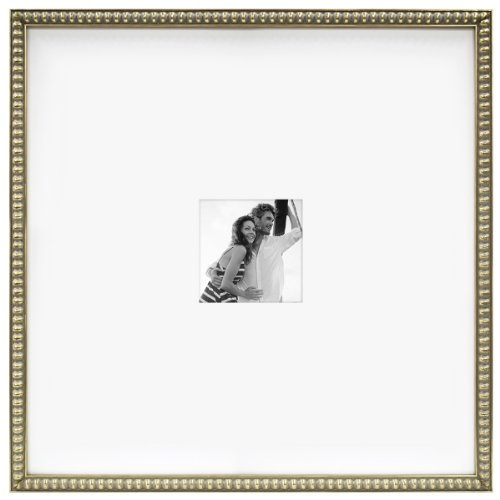 MCS 20 by 20-Inch Champagne Bead Signature Frame with 5 by 5-Inch ...
