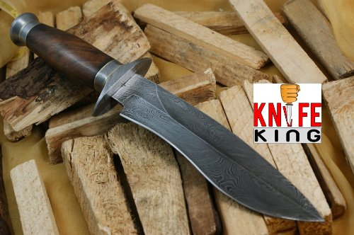 "Knife King ""Cobra"" Damascus Handmade Bowie Hunting Knife"
