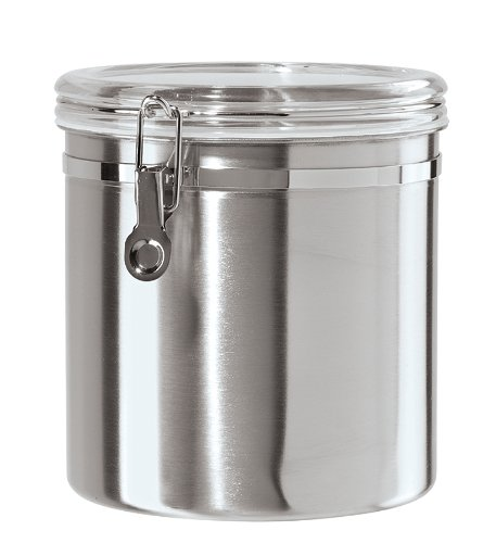 Details about Oggi Jumbo Stainless Steel Kitchen Canister , New, Free  Shipping
