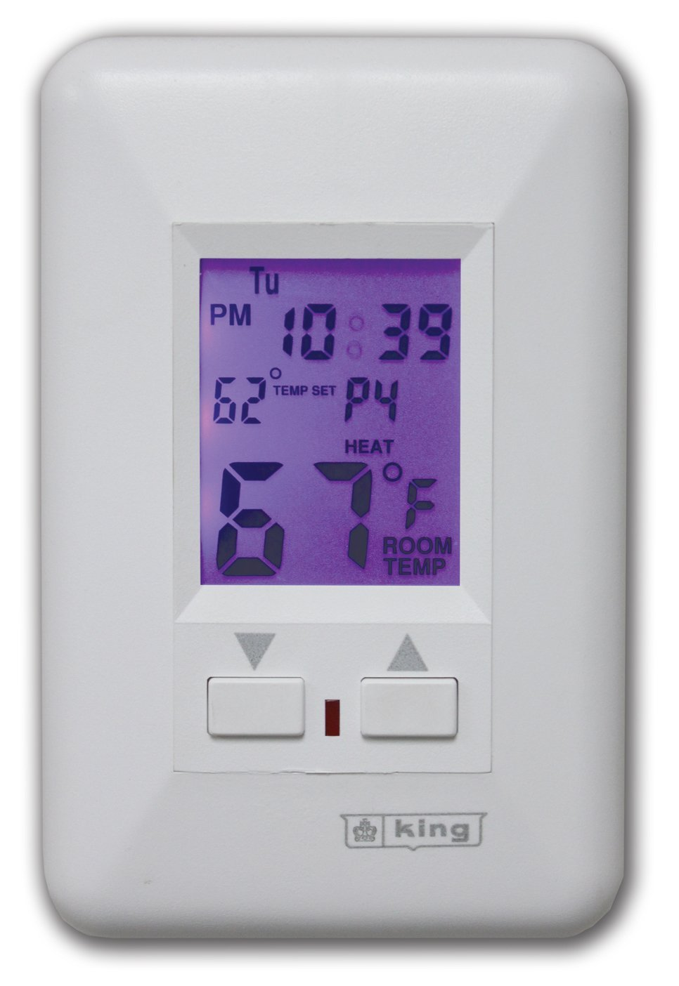 Details about King ESP230-R Electronic Line-Voltage Programmable  Thermostat, White , New, Free