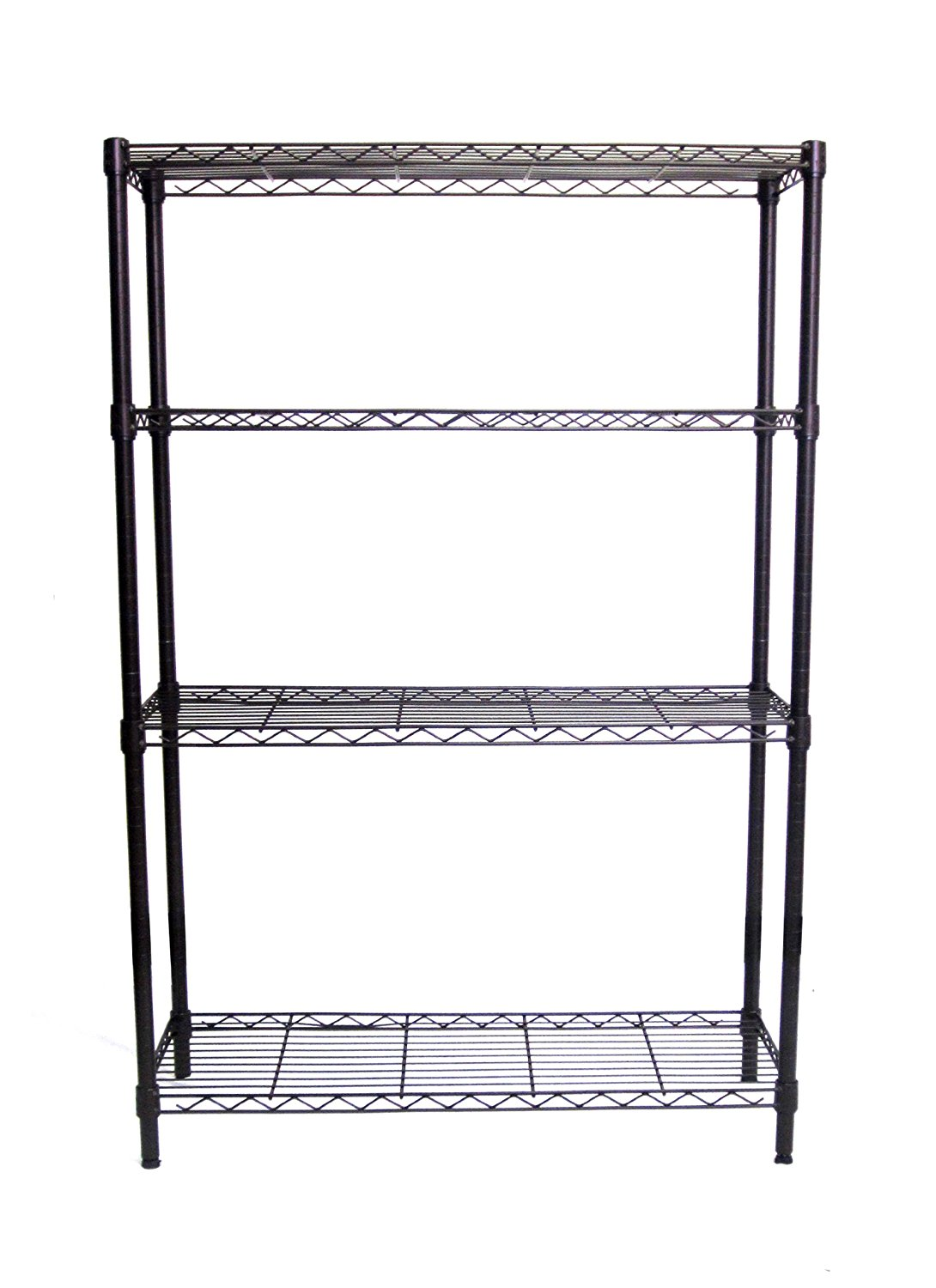 TRINITY 4-Tier NSF Wire Shelving Rack, 36 by 14 by 54-Inch, Bronze ...