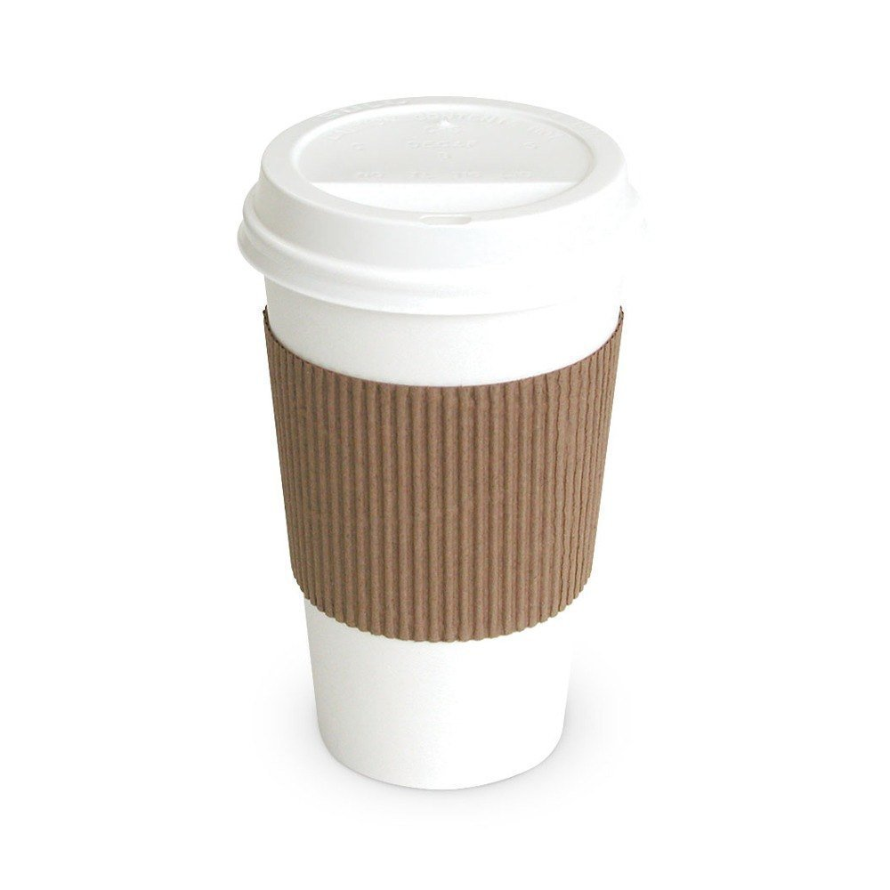 c68aba60a22 Details about 50 Paper Coffee Cup/Disposable Hot Cup 12 oz. WHITE with 50  Cappuccino Lids and