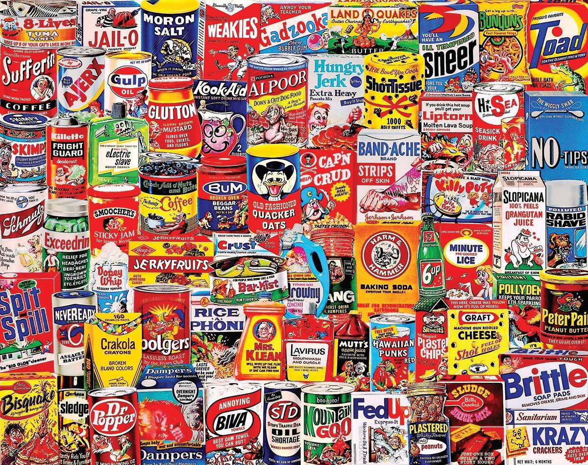 white mountain puzzles wacky packages 1000 piece jigsaw puzzle