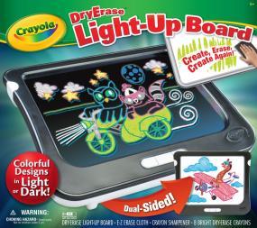 crayola dry erase light up board new free shipping 9787166268574