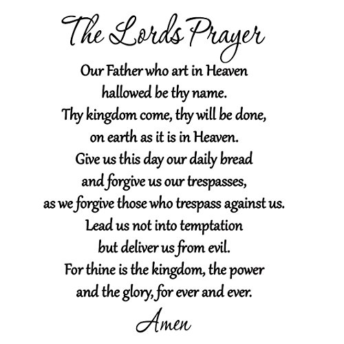 the lord s prayer bible wall decal our father vinyl wall art