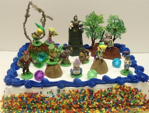legend of zelda wedding cake topper legend of birthday cake topper set featuring link 16788