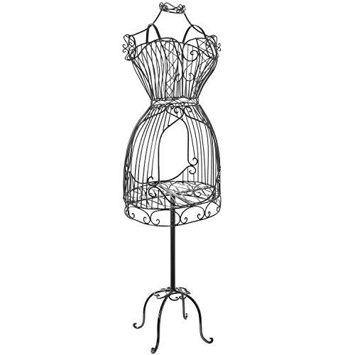 Vintage Designers Black Metal Scrollwork Wire Frame Dress Form ...